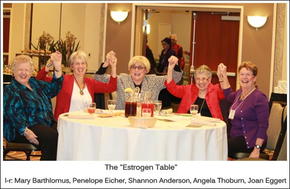 January 2014 Members Lunch: The Estrogen Table