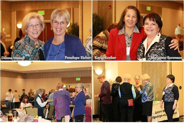St G AAUW Feb Luncheon: Howell, Eicher, Koeber, Sorensen