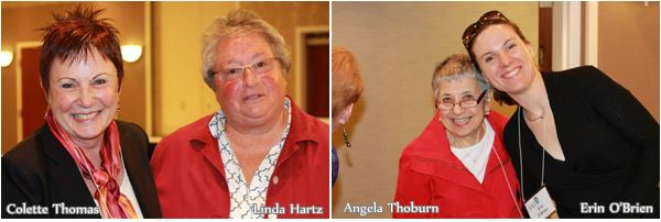 St G AAUW Feb luncheon: Thomas, Hartz, Thoburn, O'Brien